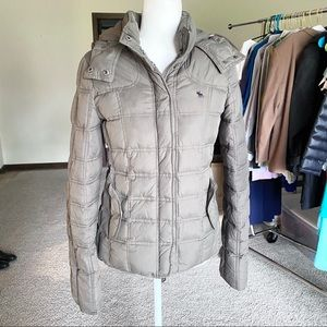 Abercrombie & Fitch Down Quilted Puffer Coat